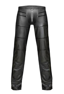 Lange wetlook broek Noir Handmade